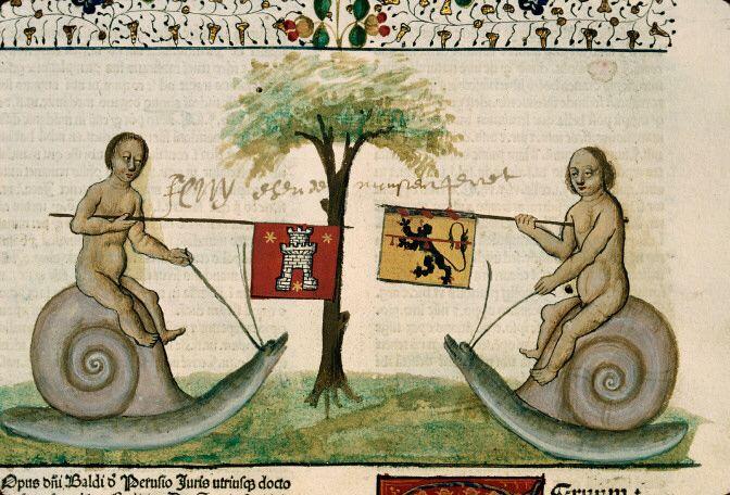 Beaune - BM - inc. 003, t.III. Baldus de Ubaldis. Lectura super Institutionibus . 1480-1481.