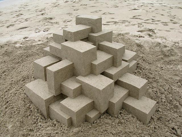 Sandcastles geométricos de arena Calvin escultura geométrica Seibert
