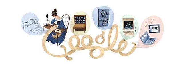 Ada Lovelace inventa dentro del doodle de Google