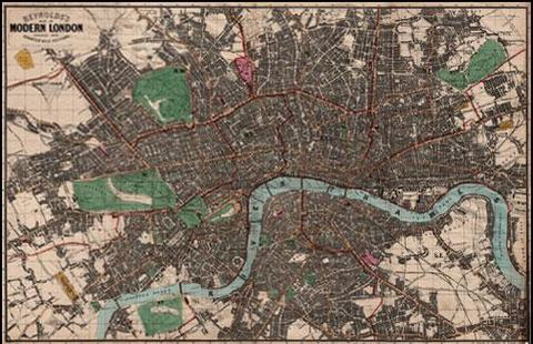John Snow «London Cholera Epidemic (1854)» | Map of London, 1859