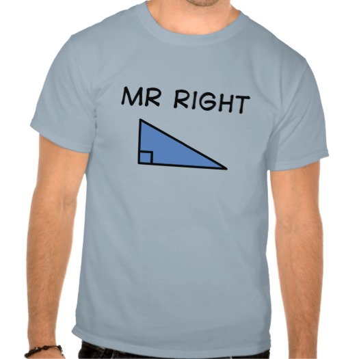 Mr Right t-shirts