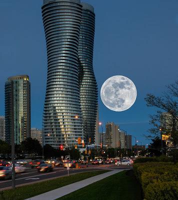 Súper Luna vista desde Mississauga, Ontario Canadá