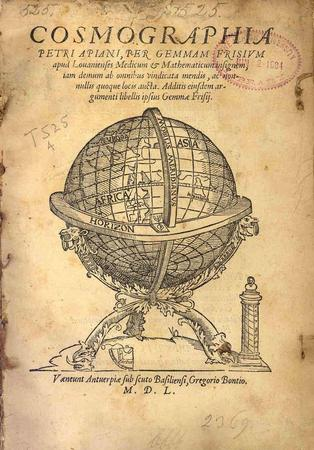 Cosmographia, 1550 -  title page