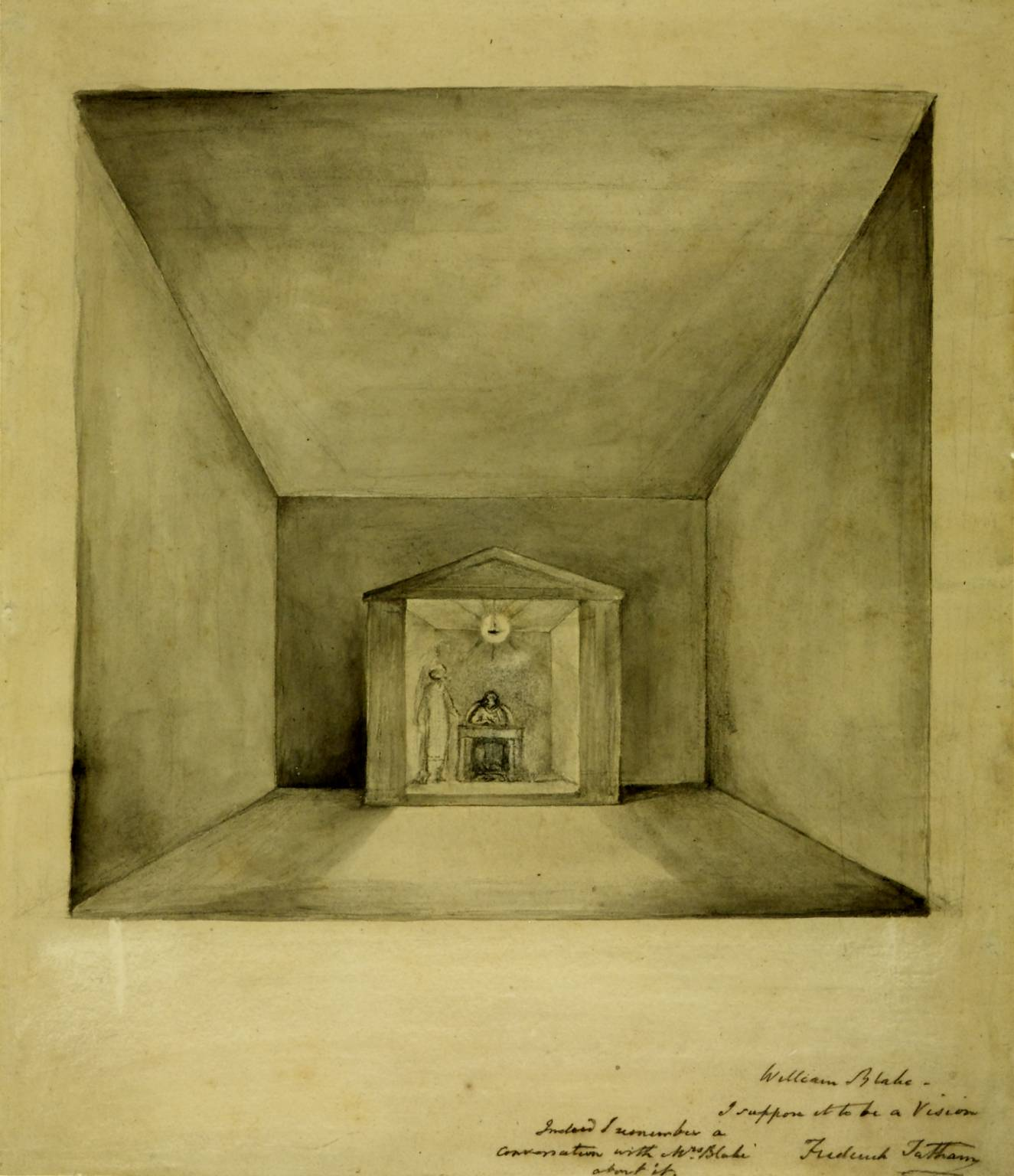 William Blake 'A Vision: The Inspiration of the Poet (Elisha in the Chamber on the Wall)', c.1819–20?