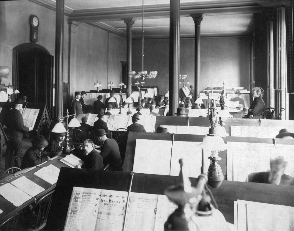 La Sala de Prensa (foto circa 1899).