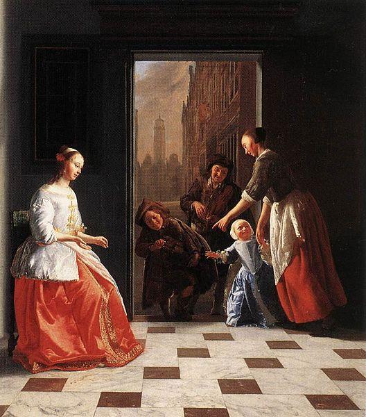 Archivo: Jacob Ochtervelt - Músicos de la calle en la puerta de una casa - WGA16622.jpg
