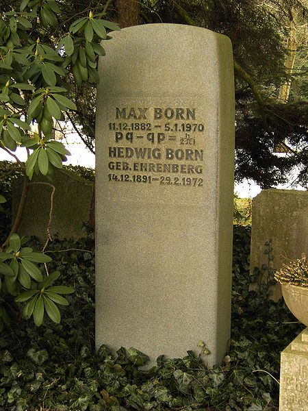 450px-Göttingen-Grave.of.Max.Born