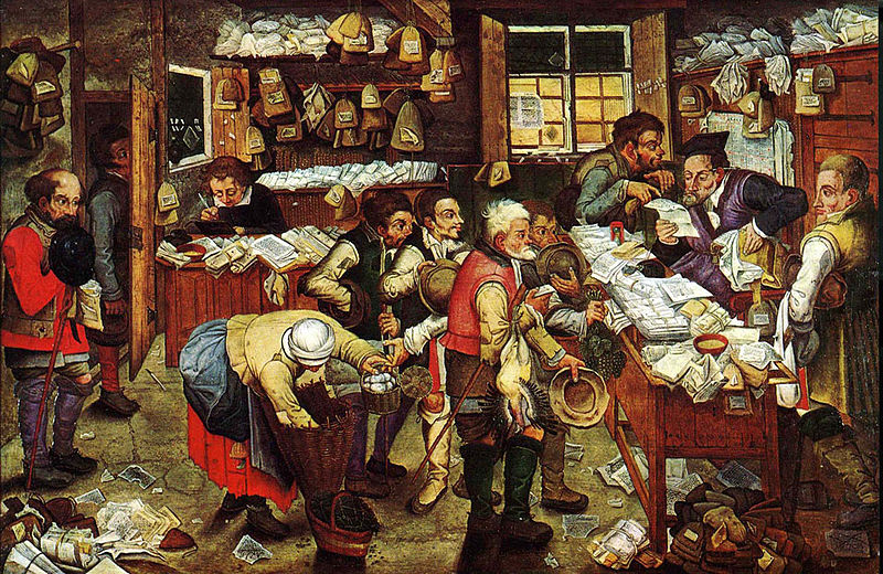 File:Pieter Brueghel the Younger, 'Paying the Tax (The Tax Collector)' oil on panel, 1620-1640. USC Fisher Museum of Art.jpg