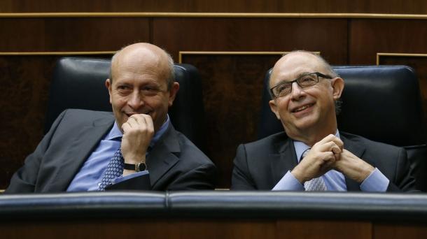 El ministro Wert en el Congreso.