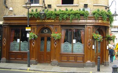 The John Snow Pub, Broadwick Street, Soho, London