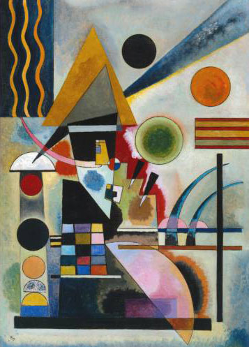 Painter Wassily Kandinsky. Painting. Swinging. 1925 year
