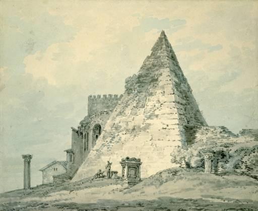 Joseph Mallord William Turner 'The Pyramid of Caius Cestius, Rome', c.1794–7 © The Ashmolean Museum, Oxford
