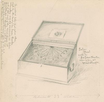 El reloj de sol Isaac Newton por desconocido - impresión