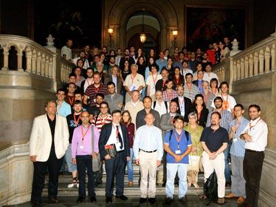 Participantes de las jornadas sobre los 'Problemas del milenio', en Barcelona.-