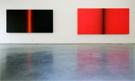 José Mª Yturralde, obras de 'Geometrías del infinito', en la Galería Javier López.
