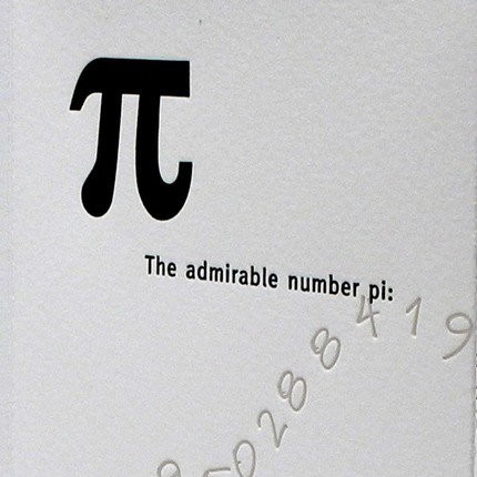 Pi (Letterpress Printed Artists Book) :: Etsy