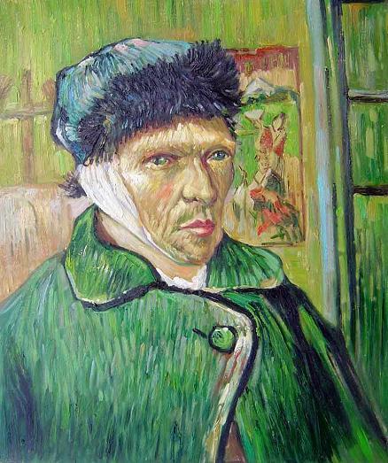 Autorretrato de Van Gogh con la oreja vendada