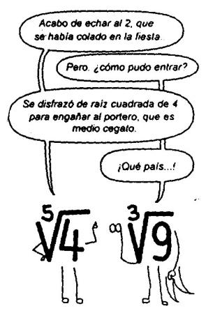 Resultado de imagen de humor matematico irracionales